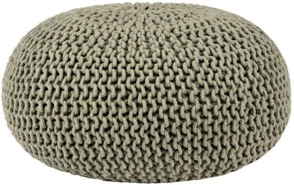 Poef Knitted - Olijfgroen - Katoen - L uit de Knitted collectie van Label51 - Löwik Meubelen