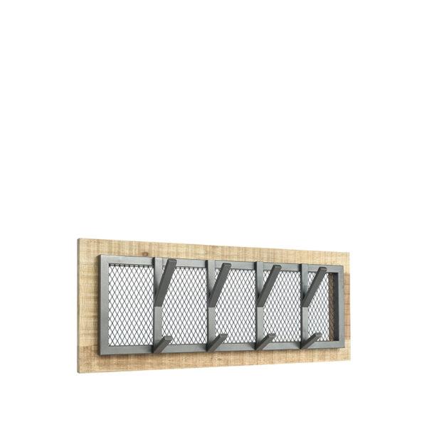 Kapstok Crude - Burned Steel - Mangohout - M uit de Crude collectie van Label51 - Löwik Meubelen