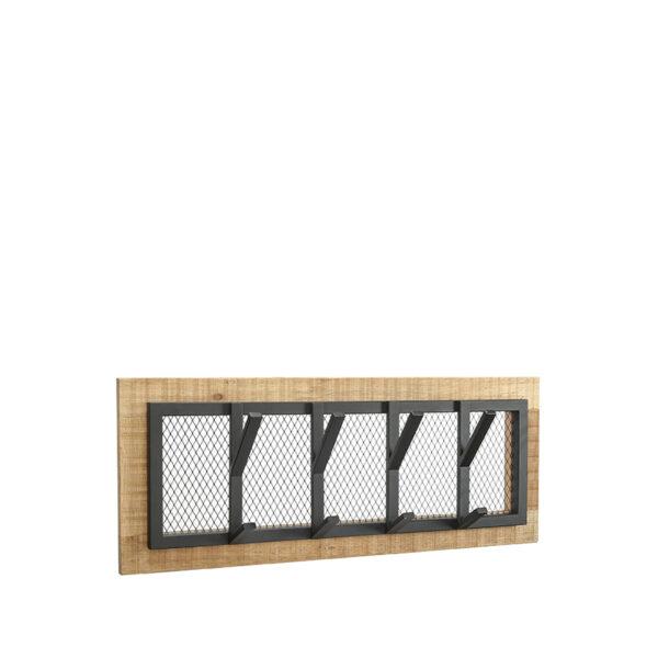 Kapstok Crude - Zwart - Mangohout - M uit de Crude collectie van Label51 - Löwik Meubelen