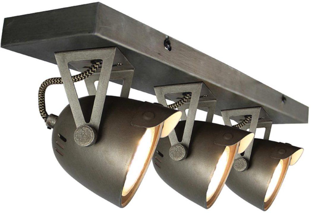Spot Cap - Grijs - Metaal - 3 Lichts
