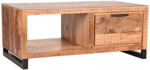 Salontafel Glasgow - Rough - Mangohout - 110x60 cm uit de Glasgow collectie van Label51 - Löwik Meubelen