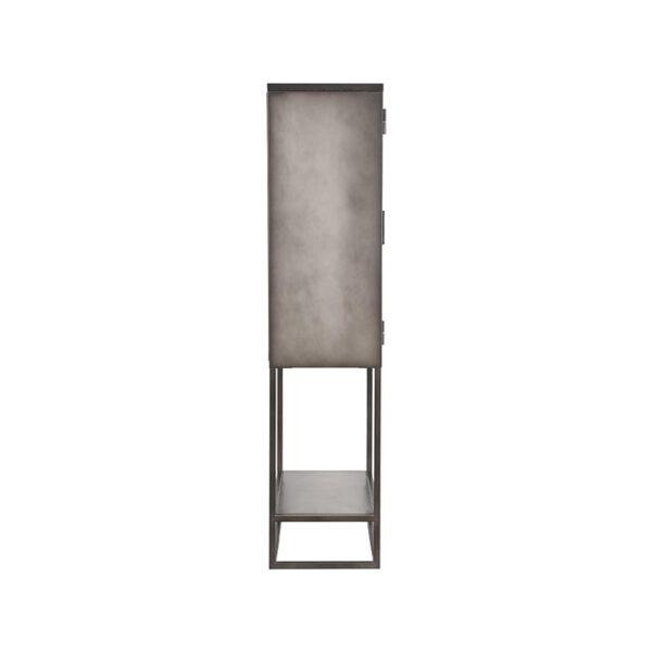 Vitrinekast Level - Grijs - Metaal uit de Level collectie van Label51 - Löwik Meubelen