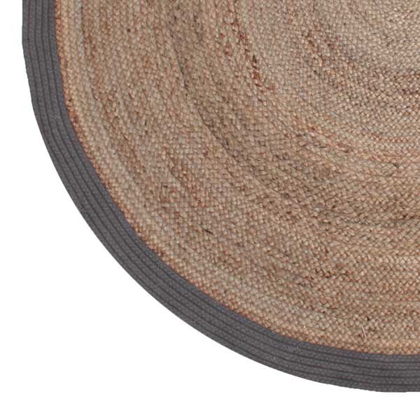 Vloerkleed Jute - Grijs - Jute - 180x180 cm uit de Jute collectie van Label51 - Löwik Meubelen