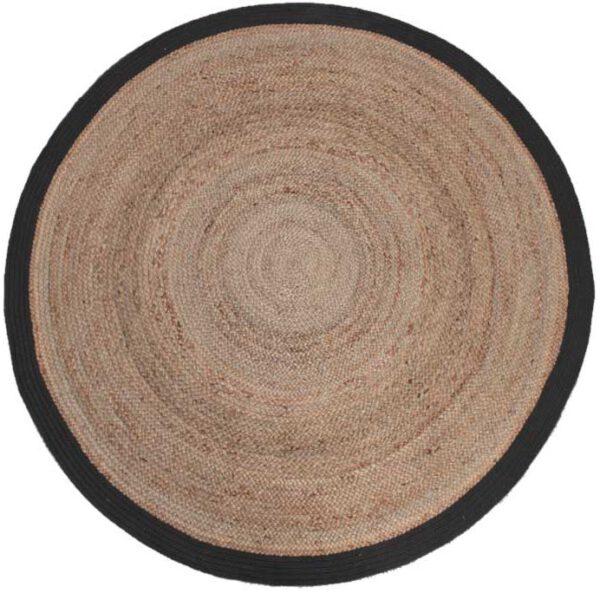 Vloerkleed Jute - Zwart - Jute - 180x180 cm uit de Jute collectie van Label51 - Löwik Meubelen
