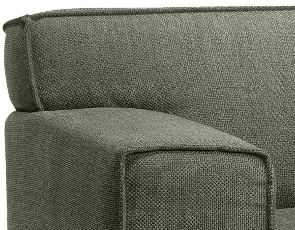 De stoere en robuuste bank Grease is een heerlijk comfortabele bank met een fraai design en verfijnde details. De bank is voorzien van een stijlvolle bies en de markante poten zijn eigenwijs geplaatst en zijn één met de armleuning. Verkrijgbaar in vele stoffen en ledersoorten. Afgebeeld in stof Loudy hunter (groen), als 2,5-zitsbank (zitvlak 2x75). Afmeting: (hxbxd) 87x206x90 cm.
