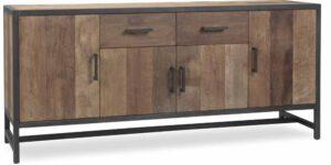 Empresa dressoir, stoer teakhout met stalen frame