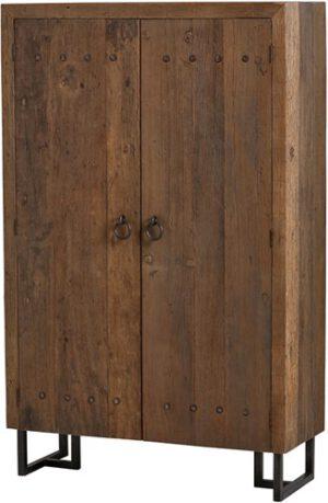 Pure kast - hoog 2 deuren uit de MySons collectie - Metaal