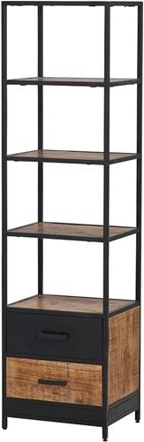 Kirby boekenkast - 2 lades en 4 open vakken uit de MySons collectie - Mangohout