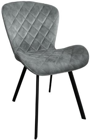 Dex stoel le Chair - Velvet steel