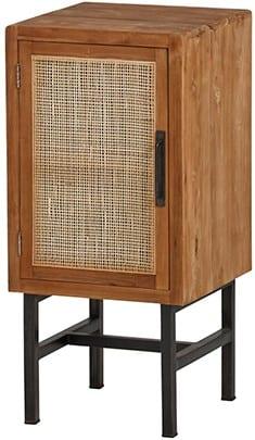 Webbing Nachtkastje natural - 1 deur uit de MySons collectie - Teakhout - Nijwie