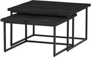 Bon Noir salontafel Black Cuba - vierkante set/2 Big uit de Nijwie collectie - null - Nijwie