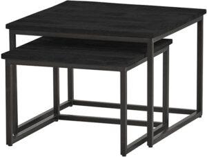 Bon Noir salontafel Black Cuba - vierkante set/2 Medium uit de Nijwie collectie - null - Nijwie