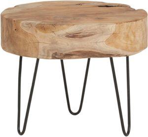 Natural Life salontafel - rond hoog Ø50 uit de MySons collectie - Acaciahout
