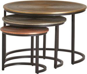 Ringo salontafel Ringo 3-kleurig rond - set/3 uit de MySons collectie - Metaal - Nijwie