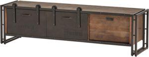 Estilo 7 tv-dressoir - 160 - 1 lade en 2 schuifdeuren uit de Nijwie collectie - Mangohout