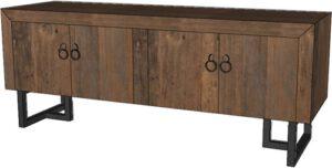 Pure tv-dressoir - 150 - 2x 2 deuren uit de MySons collectie - Metaal