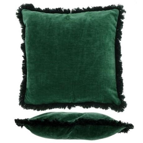 Sierkussen Fiorini dark green uit de woonaccessoires Pronto Wonen Lowik Meubelen Dark green