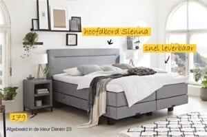 Sunday 1200 boxspring bed, geheel naar wens samen te stellen, kies uw ideale hoofdbord, stof en afmeting - ook electrisch verstelbaar leverbaar