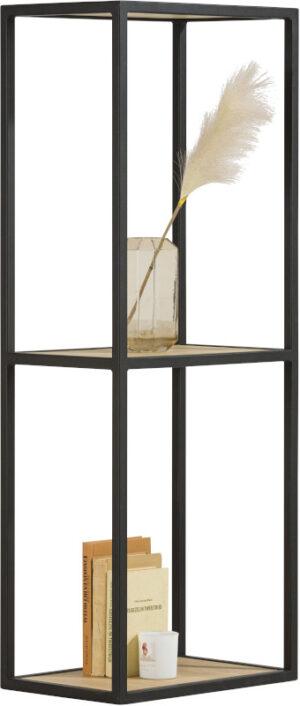 Elements boekenkast 120 cm. + 2-niches Natural eiken fineer naturel