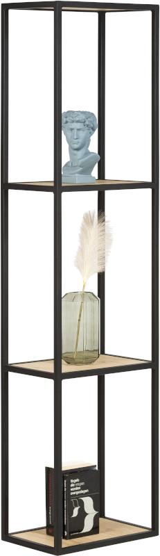 Elements boekenkast 180 cm. + 3-niches Natural eiken fineer naturel