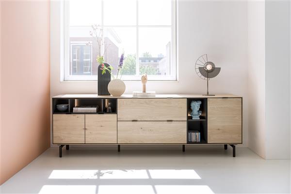 Elements box 30 x 60 cm. - hang + klep Natural eiken fineer naturel