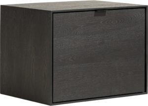 Elements box 45 x 60 cm. + legplank - hang + klep Onyx eiken fineer onyx
