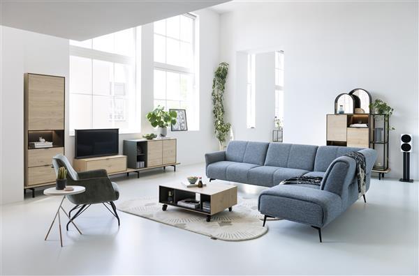 Elements box 45 x 90 cm. - hang + 2-deuren Natural eiken fineer naturel