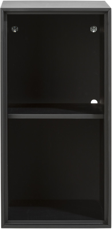 Elements box 60 x 30 cm. - lak - hang + 2-niches + led Off Black MDF off black gelakt XOOON Lowik Wonen & Slapen