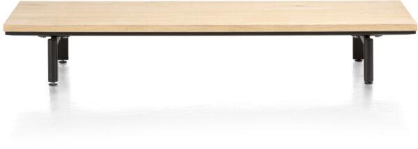 Elements platform 130 cm. incl. 2 metalen poten Natural eiken fineer naturel