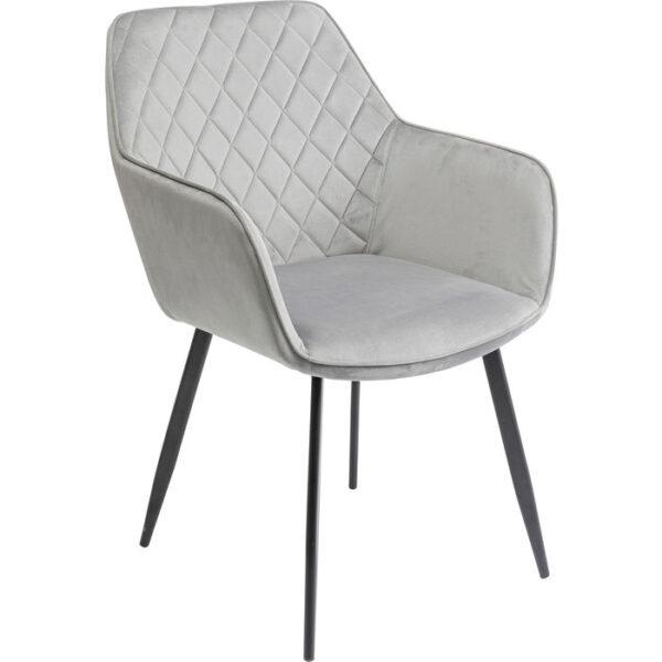 Kare Design Armstoel Kayla Grey armstoel 85533 - Lowik Meubelen