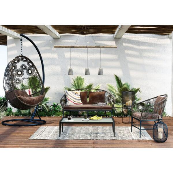 Kare Design Bank Ibiza Brown bank 85481 - Lowik Meubelen