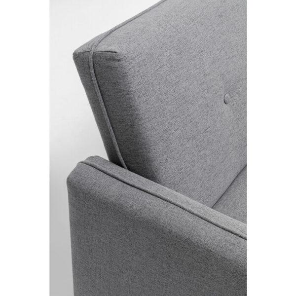 Kare Design Bank Lula Grey 200cm fauteuil 85597 - Lowik Meubelen