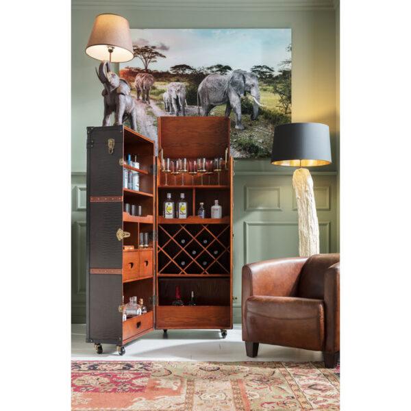 Kare Design Barkast Globetrotter barkast 73933 - Lowik Meubelen
