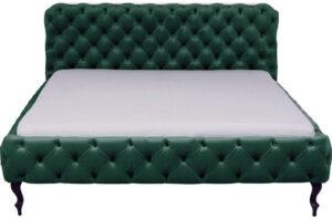 Kare Design Bed Desire Velvet Green 180x200cm bed 85670 - Lowik Meubelen