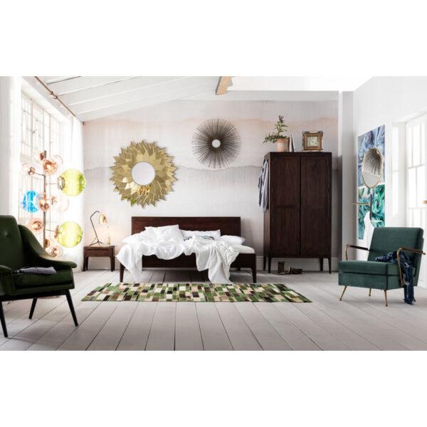 Kare Design Bed Wood Brooklyn Walnut 160x200cm bed 81966 - Lowik Meubelen