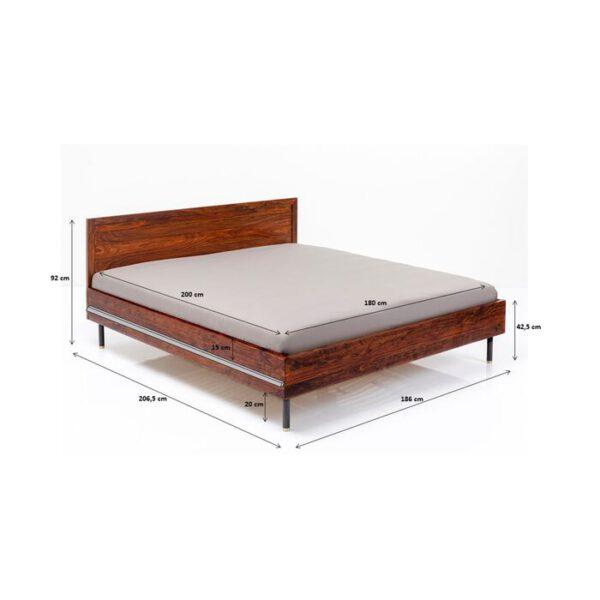 Kare Design Bed Wood Ravello 180x200 bed 85464 - Lowik Meubelen