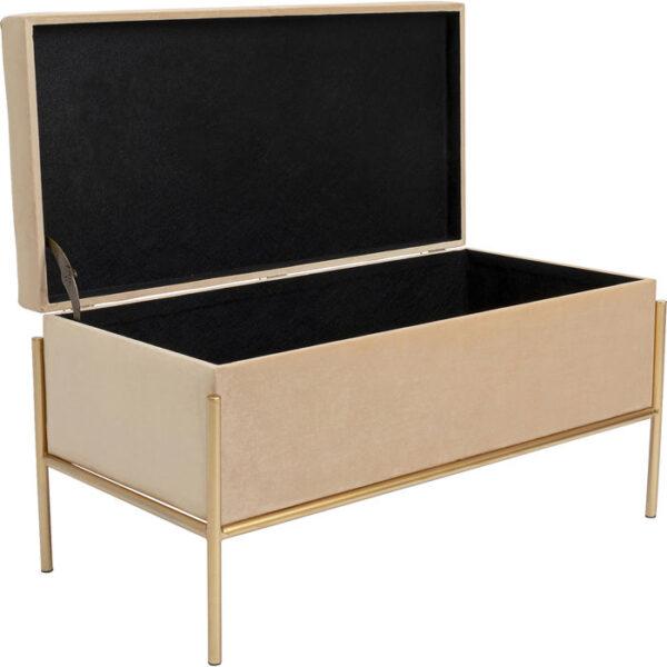 Kare Design Bench Buttons Storage Beige Small bench 85301 - Lowik Meubelen