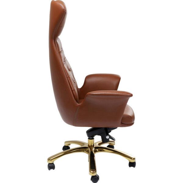 Kare Design Bureaustoel Brady Brass bureaustoel 85286 - Lowik Meubelen
