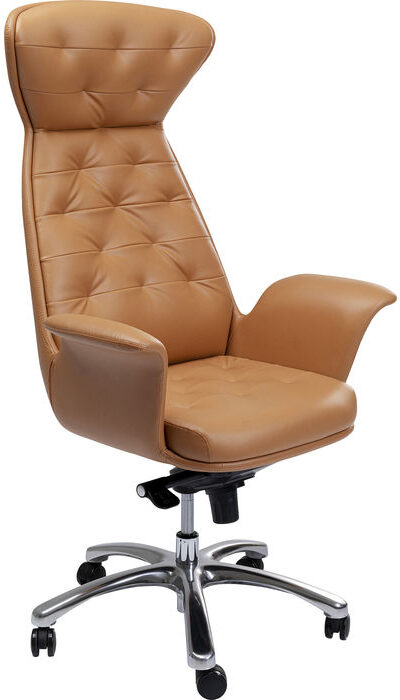 Kare Design Bureaustoel Brady Silver bureaustoel 85285 - Lowik Meubelen