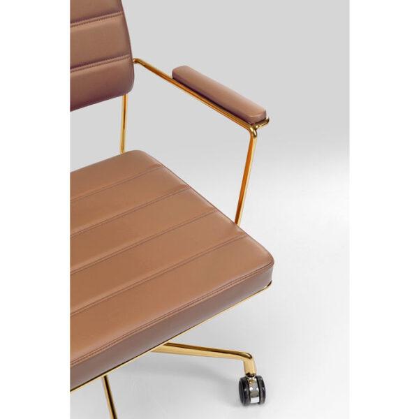 Kare Design Bureaustoel Dottore Brown bureaustoel 85288 - Lowik Meubelen