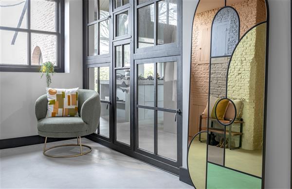 COCO maison Adelaide kussen 45x45cm - geel  Sierkussen
