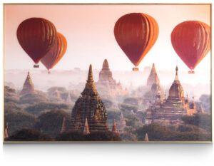 COCO maison Air Balloon fotoschilderij 80x120cm  Schilderij