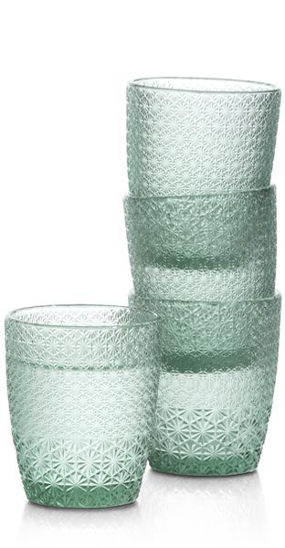 COCO maison Amalfi set van 4 glazen H10cm  Woonaccessoire