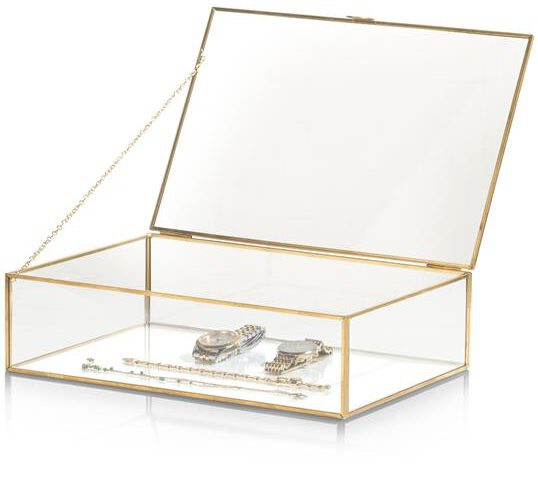 COCO maison Box opbergdoos H8cm - goud  Woonaccessoire