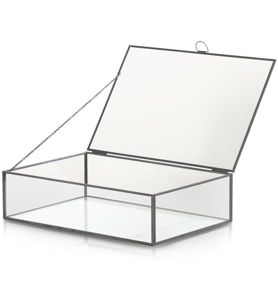 COCO maison Box opbergdoos H8cm - zwart / antraciet  Woonaccessoire