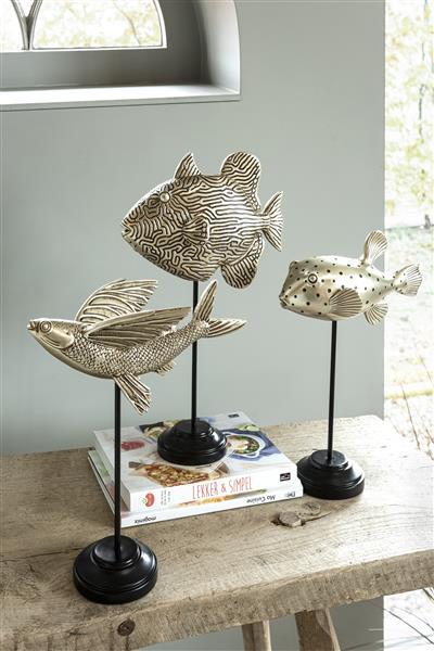 COCO maison Globe Fish beeld H31cm  Woonaccessoire