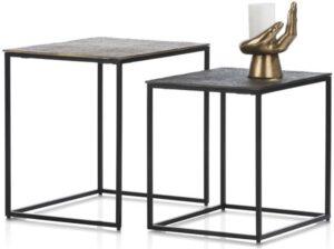 COCO maison Maggy set van 2 bijzettafels H46-40cm  Woonaccessoire