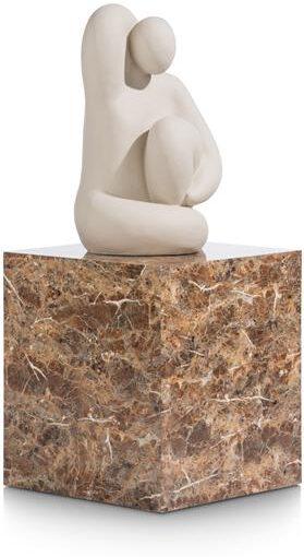 COCO maison Marble look bijzettafel H50cm - oranje  Woonaccessoire