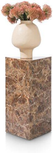COCO maison Marble look pilaar H65cm - oranje  Woonaccessoire