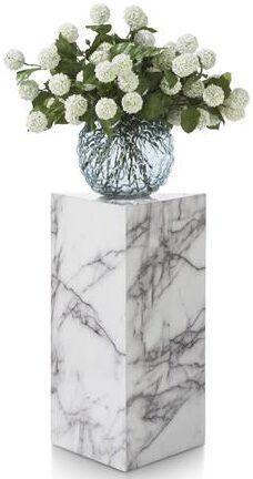 COCO maison Marble look pilaar H65cm - wit  Woonaccessoire